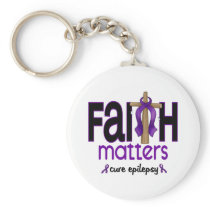 Epilepsy Faith Matters Cross 1 Keychain