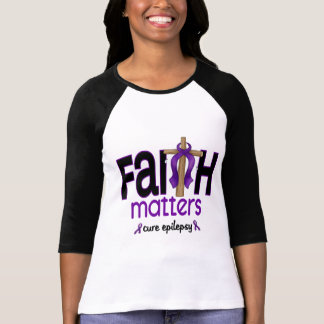 Epilepsy Faith Matters Cross 1 T-shirt