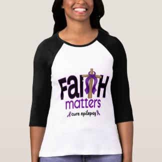 Epilepsy Faith Matters Cross 1 T-Shirt