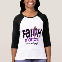 Epilepsy Faith Matters Cross 1 Tshirt