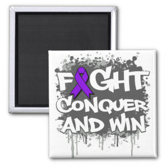 Epilepsy Fight Conquer and Win Magnet