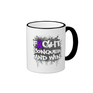 Epilepsy Fight Conquer and Win Ringer Coffee Mug