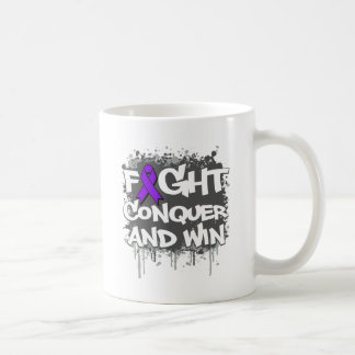 Epilepsy Fight Conquer and Win Classic White Coffee Mug