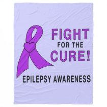 Epilepsy: Fight for the Cure! Fleece Blanket