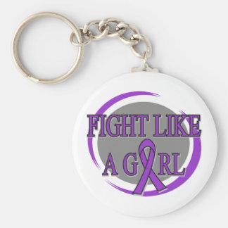 Epilepsy Fight Like A Girl Circular Basic Round Button Keychain