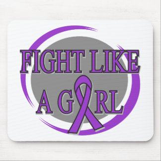 Epilepsy Fight Like A Girl Circular Mousepad