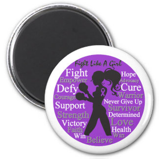Epilepsy Fight Like A Girl Collage Magnet