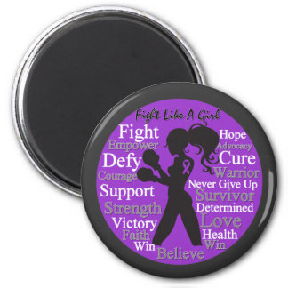 Epilepsy Fight Like A Girl Collage Magnets