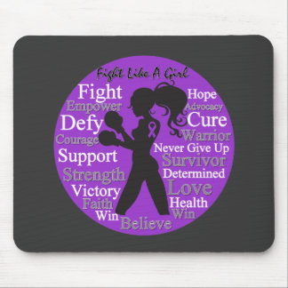 Epilepsy Fight Like A Girl Collage Mousepad