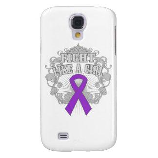 Epilepsy Fight Like A Girl Fleurish Samsung Galaxy S4 Case