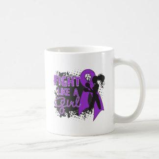 Epilepsy Fight Like A Girl Grunge Mugs