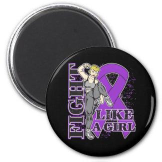 Epilepsy Fight Like A Girl Kickin Butt Fridge Magnets
