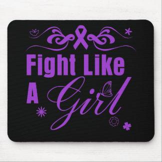 Epilepsy Fight Like A Girl Ornate Mousepad