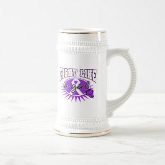 Epilepsy Fight Like A Girl Sporty Callout Coffee Mug