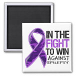 Epilepsy - Fight To Win Refrigerator Magnet