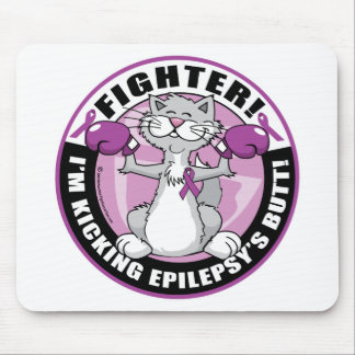 Epilepsy Fighter Cat Mouse Pad
