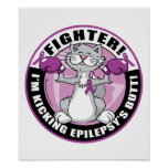 Epilepsy Fighter Cat Poster