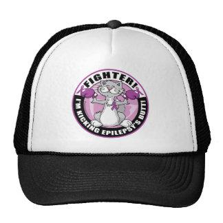 Epilepsy Fighter Cat Trucker Hat