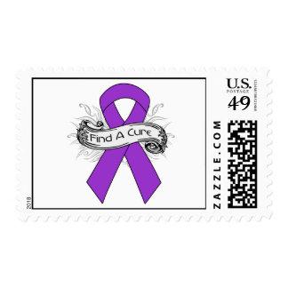 Epilepsy Find A Cure Ribbon Postage