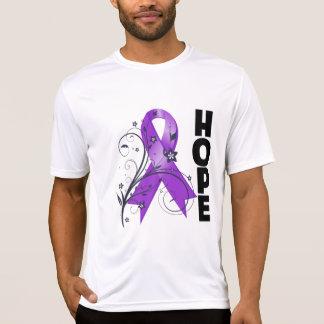 Epilepsy Floral Hope Ribbon T Shirt