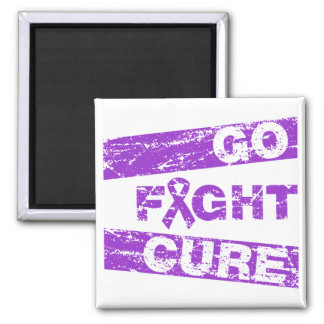 Epilepsy Go Fight Cure 2 Inch Square Magnet