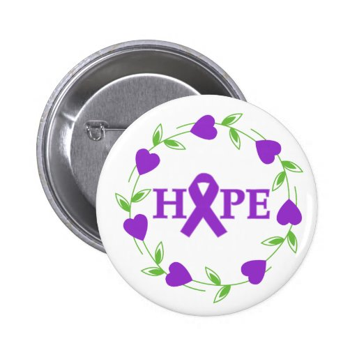 Epilepsy Hearts of Hope Pins