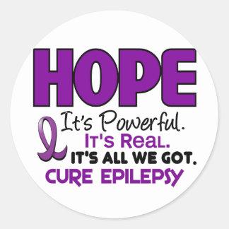 Epilepsy HOPE 1 Classic Round Sticker