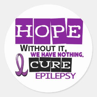 Epilepsy HOPE 2 Classic Round Sticker