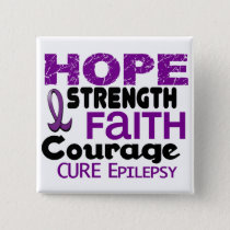 Epilepsy HOPE 3 Pinback Button