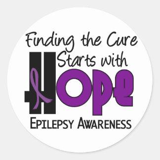 Epilepsy HOPE 4 Classic Round Sticker