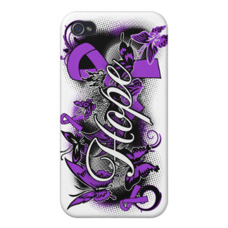Epilepsy Hope Garden Ribbon iPhone 4/4S Cases