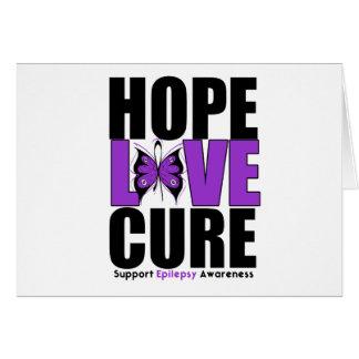 Epilepsy HOPE LOVE CURE Card
