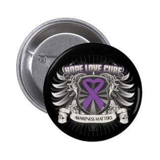 Epilepsy Hope Love Cure Pinback Button