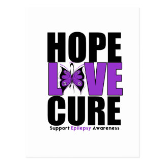 Epilepsy HOPE LOVE CURE Postcard