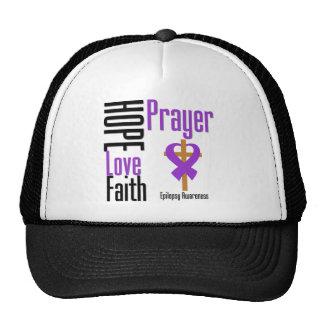 Epilepsy Hope Love Faith Prayer Cross Trucker Hat