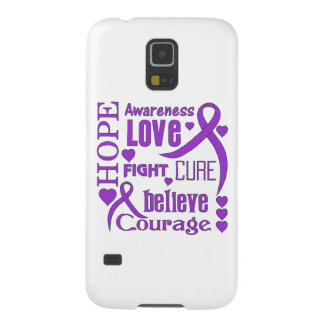 Epilepsy Hope Words Collage Galaxy S5 Cover