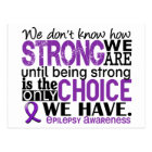Epilepsy How Strong We Are Postcard