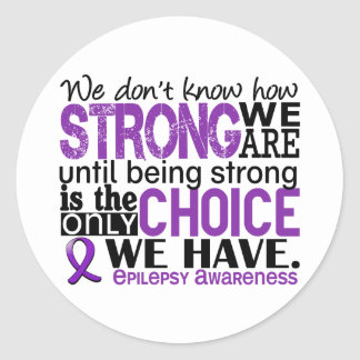 Epilepsy How Strong We Are Classic Round Sticker