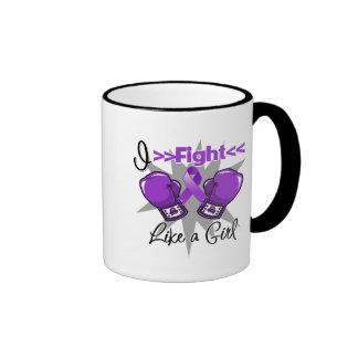 Epilepsy I Fight Like a Girl With Gloves Coffee Mugs