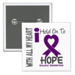 Epilepsy I Hold On To Hope Button