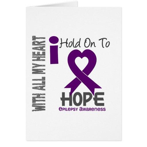 Epilepsy I Hold On To Hope Cards