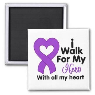 Epilepsy I Walk For My Hero Refrigerator Magnet