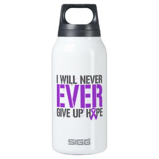 Epilepsy I Will Never Ever Give Up Hope 10 Oz Insulated SIGG Thermos Water Bottle