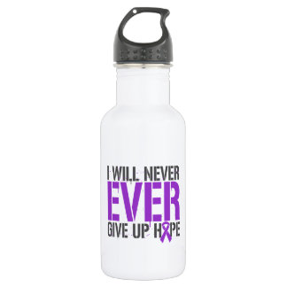 Epilepsy I Will Never Ever Give Up Hope 18oz Water Bottle