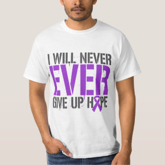 Epilepsy I Will Never Ever Give Up Hope T-shirts
