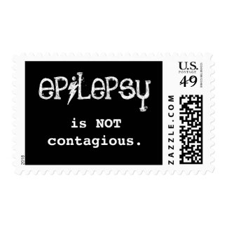 epilepsy is NOT contagious. Postage Stamps