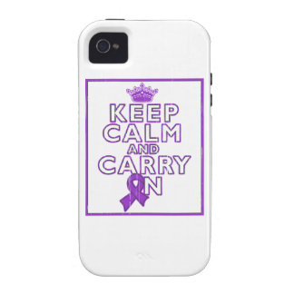 Epilepsy Keep Calm and Carry On iPhone 4/4S Cover