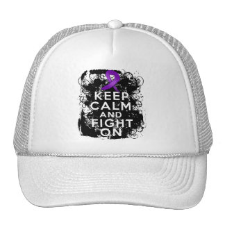 Epilepsy Keep Calm and Fight On Trucker Hat