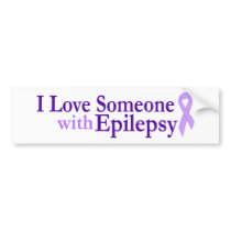 epilepsy love bumper sticker