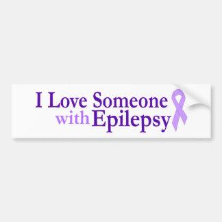 epilepsy love bumper sticker